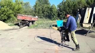 Самодельный парамотор первый запуск ( homemade paramotor )