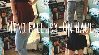 Mini Fall Try-On Haul | AA, Nasty Gal, Urban Outfitters+More Thumbnail