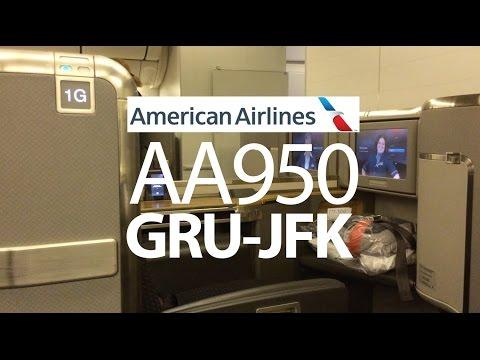 AA950 GRU-JFK American Airlines First Class Boeing 777-300ER (77W)
