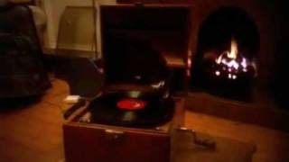Home sweet home on a Beltona gramophone record player