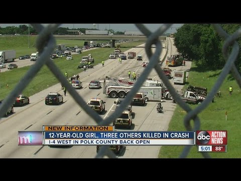 Crash on I-4 near Lakeland kills 4, including child