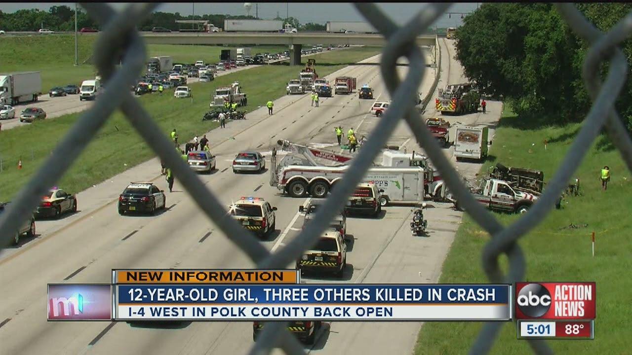 Crash on I-4 near Lakeland kills 4, including child