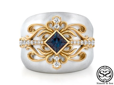 Alexandrite Class Ring Gold Custom Sterling Silver...