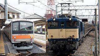 2019/03/01 譲渡配給輸送 205系 M10編成 EF64-1031 吹上駅   JR East: Delivery of 205 Series to Jakarta