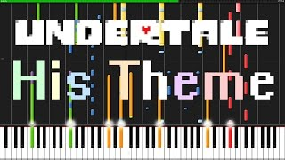 His Theme - Undertale [Piano & Orchestra] // PianoPrinceOfAnime (Synthesia)