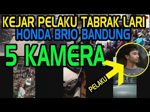 Aksi Kejar Pelaku Tabrak Lari Brio Bandung 5 kamera (FULL!!)