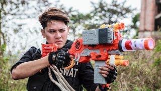 LTT Nerf War : Couple SEAL X Warriors Nerf Guns Fight Criminal Group Dr Lee Bandits Diamond