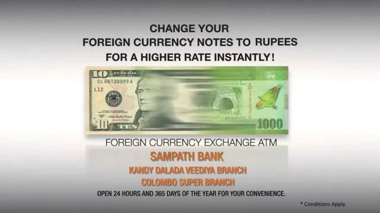 Foreign Currency Exchange Atms Sampath Bank