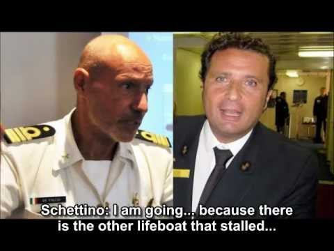 Powerful phone call between a captain abandoning his sinking cruise ship and the man in charge of rescue operations