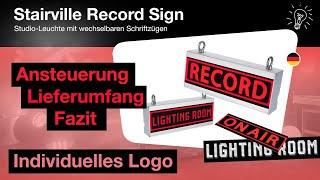 STUDIO LED LEUCHTE - Record Sign von Stairville mit Individualdruck