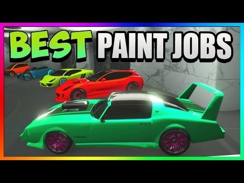 GTA 5 - Top 5 BEST Paint Jobs & SEXY Car Color Schemes - Rare Paint Jobs 1.37 (GTA 5 Paint Jobs)