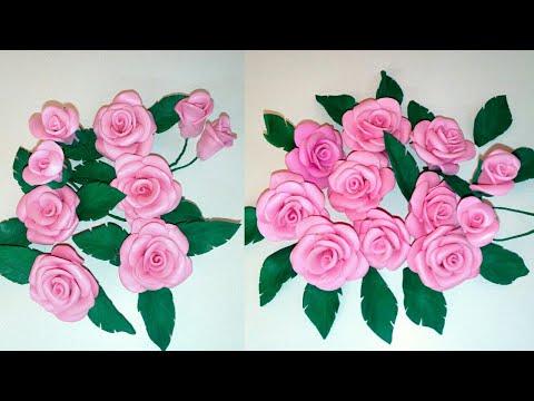 22ece500a37 Rosas de GOMA EVA - FOAMY Sin Molde - como hacer rosas de goma eva - Rosas  Fácil y Rápido  Rosas