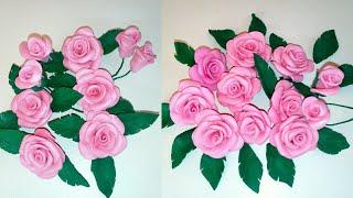 Rosas de GOMA EVA - FOAMY  Sin Molde - como hacer rosas de goma eva - Rosas Fácil y Rápido #Rosas