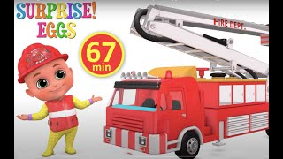 Download Fire Truck, Excavator, Train, Police Cars, Garbage Trucks & Tractor Kids Construction Toy Vehicles Mp3 and Videos