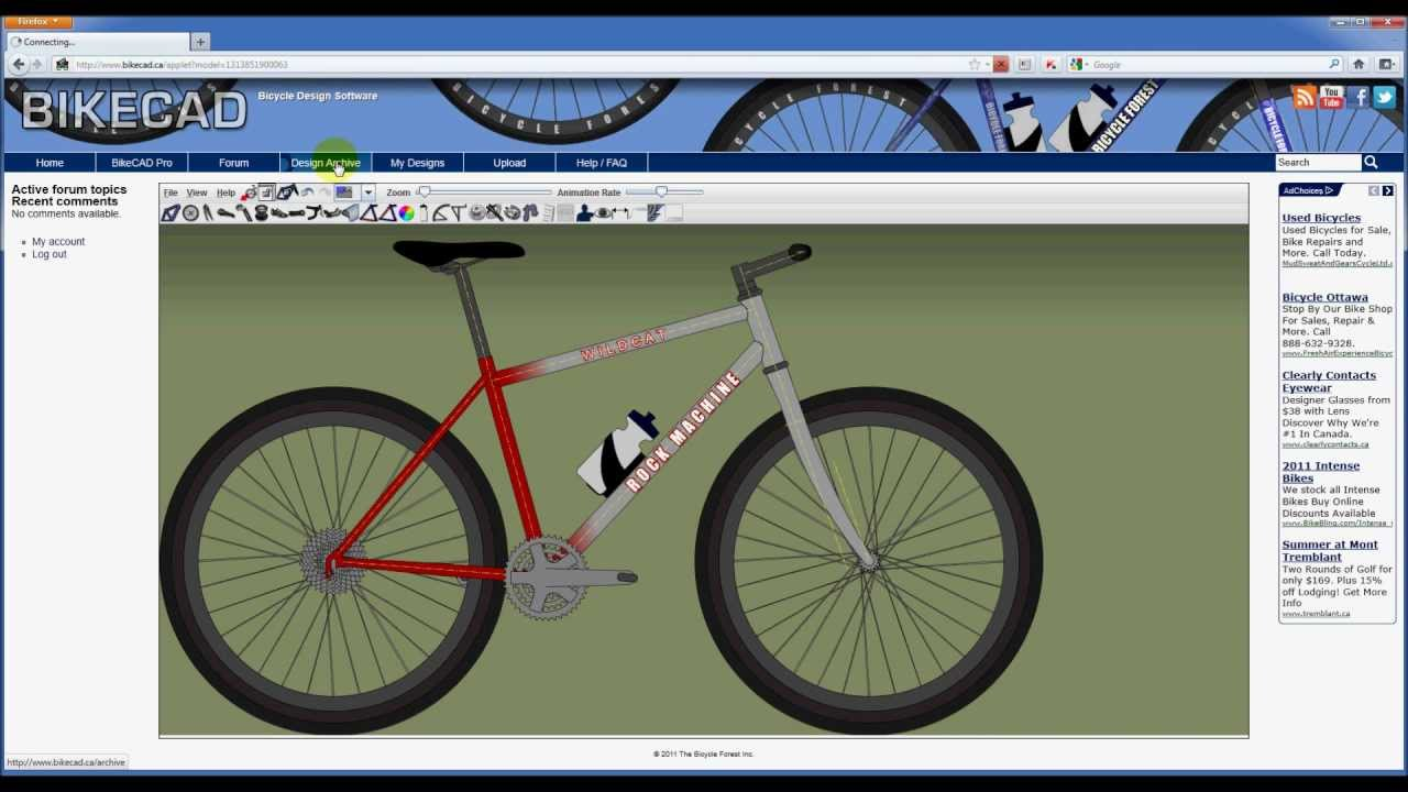 Intro to the BikeCAD ca Website