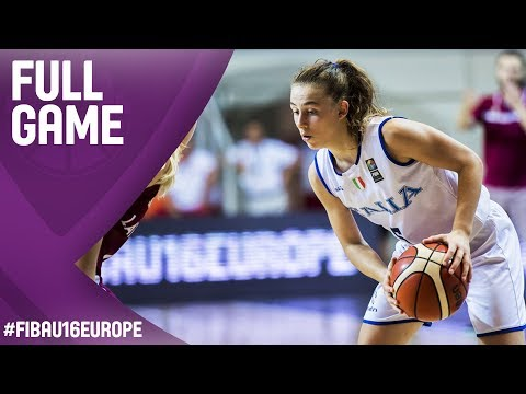 Italy v Latvia - Full Game - 3rd Place - FIBA U16 Women's European Championship 2017
