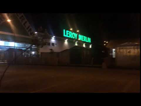 Storm Wind Crashes Roof At Leroy Merlin
