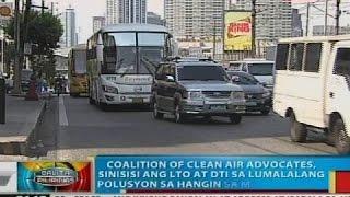 Coalition of clean air advocates, sinisisi ang LTO at DTI sa lumalalang polusyon sa hangin