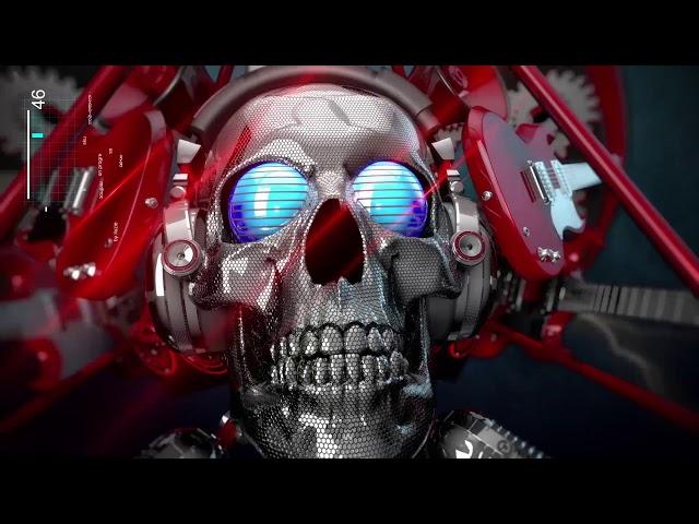 3Dintro.net 395 metal skull head logo sting - 3Dintro.net - Intro Video