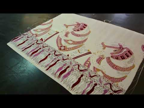 Hand printed silk textiles by Parekh Bugbee - Behind the making in India