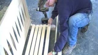 Building A Wooden Porch Swing pt.1 of 2
