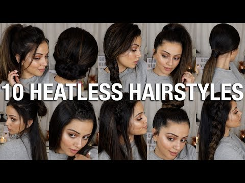 10 EASY BACK TO SCHOOL HEATLESS HAIRSTYLES 😱 2 – 4 MINS EACH!!