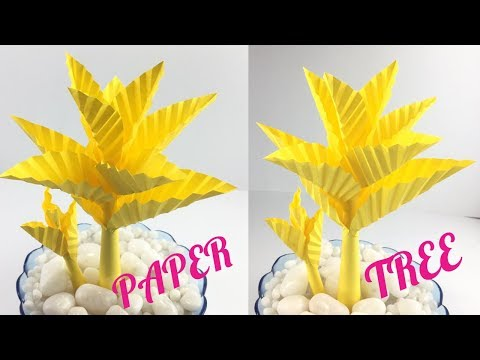 Paper Tree | Paper Leaves | Paper Crafts | Easy DIY Paper Tree