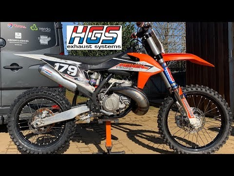 KTM 250SX 2019 HGS Exhaust - YouTube
