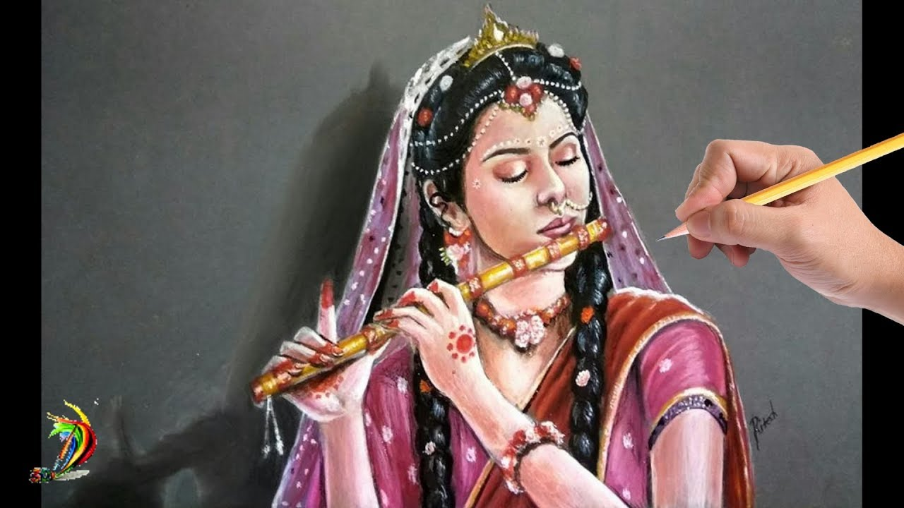 Most Beautiful - Mallika Singh Drawing | Radha Krishna Star Bharat |  Mallika Singh Portrait