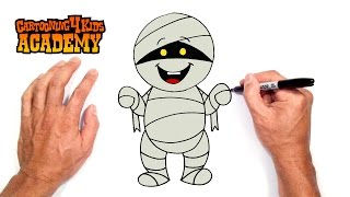 How to Draw a Halloween Mummy- Art for Beginners