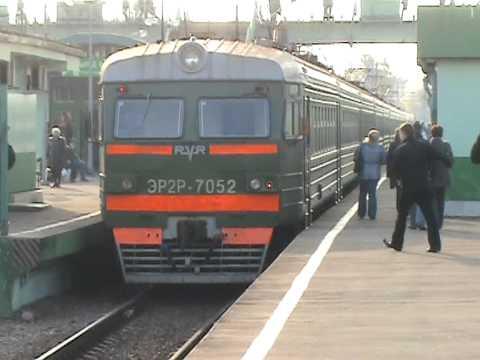 Электропоезд ЭР2Р-7052 станция Голицыно