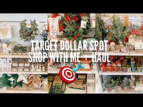 NEW TARGET DOLLAR SPOT SHOP WITH ME & HAUL | NEW CHRISTMAS ITEMS