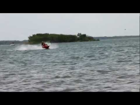Nick driving the jet ski @ Ray Roberts Lake Dallas TX