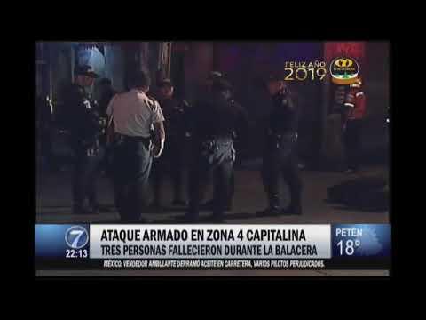 Tres personas fallecidas durante balacera