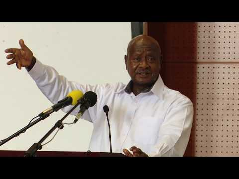 Museveni blasts Ugandans for importing clothes as he addresses Government retreat