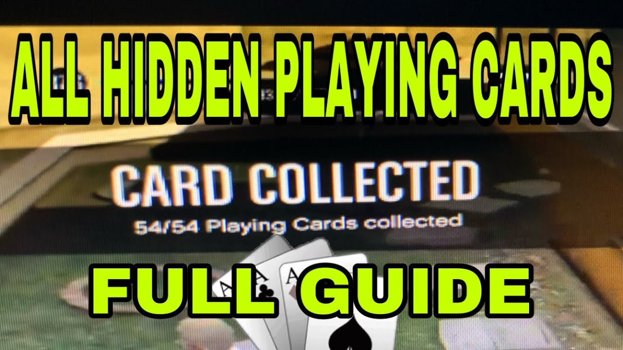 All Hidden Playing Card Locations Full Guide Gta Online