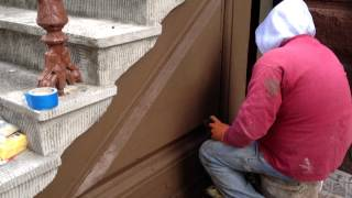 Brownstone Stoop, Detalis Work- High Tech Construction Co