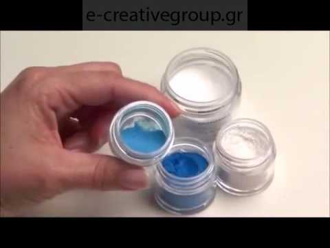 "Liquid Powder & Additives ""Cobalt Glass Nail Design"""