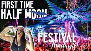 CRAZY FIRST TIME HALF MOON FESTIVAL // KOH PHANGAN THAILAND