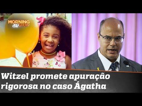 Witzel promete apurar com rigor denúncia de que pm's tentaram pegar bala que matou Ágatha
