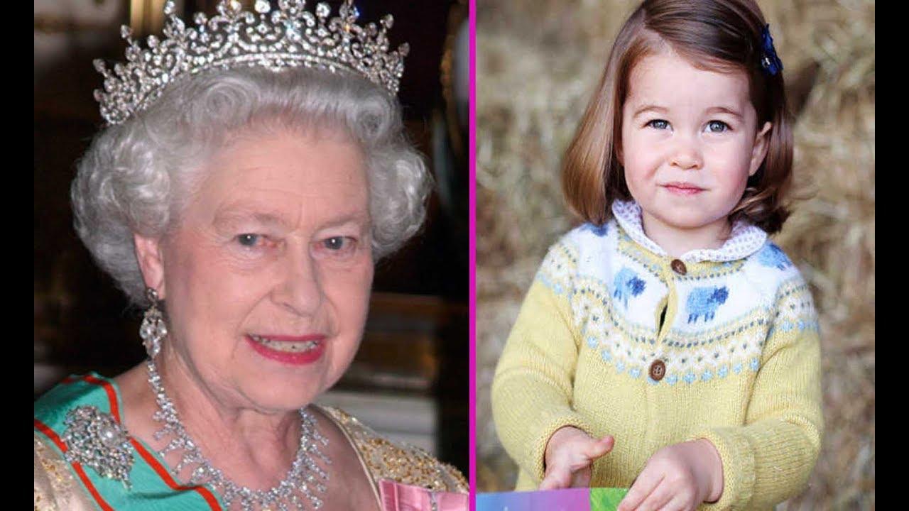 Princess Charlotte Looks Just Like Queen Elizabeth Ii The Feels Baby Is Very In Love