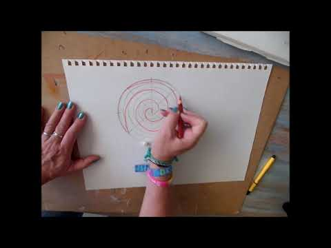 How to draw a spiral out of your hand