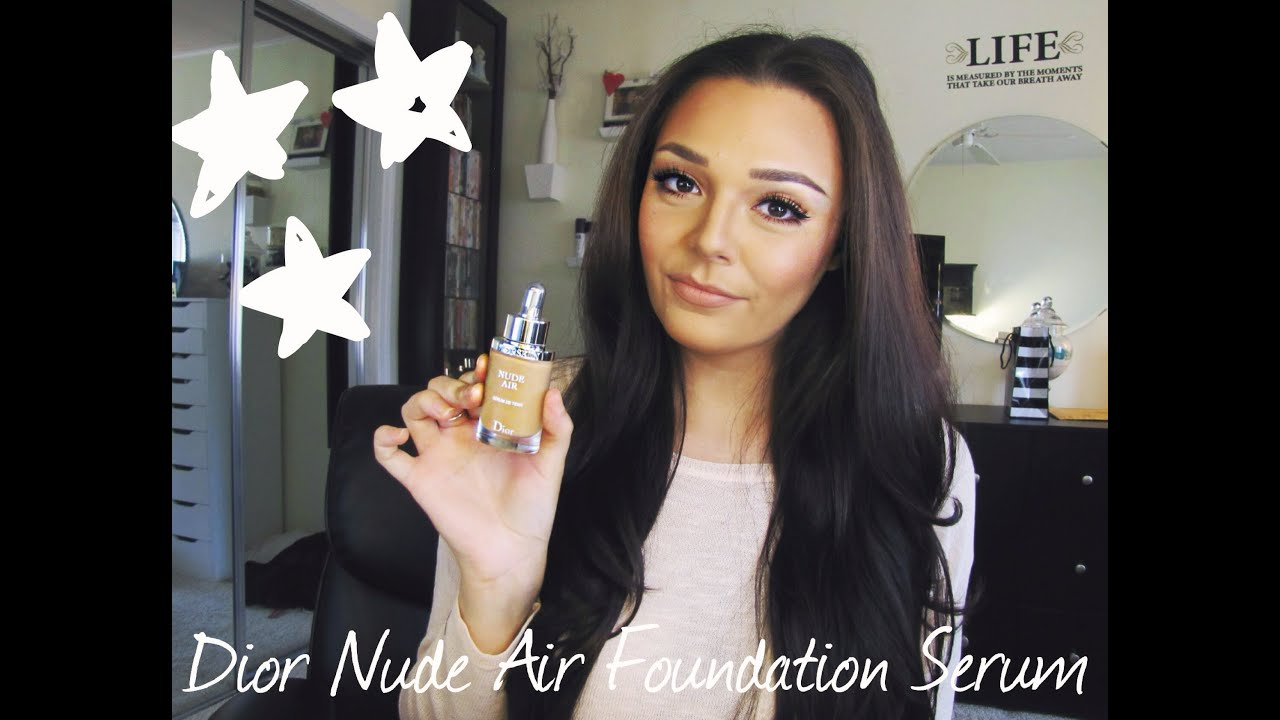 dior nude air serum foundation review youtube. Black Bedroom Furniture Sets. Home Design Ideas