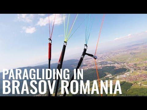 Brasov Romania. Paragliding Summer 2019
