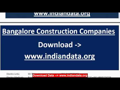 Bangalore Construction Companies List Download - indiandata.org