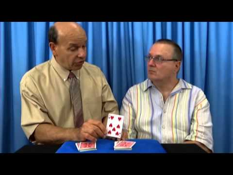 7 Of Hearts Punched Out Half Dollar Trick