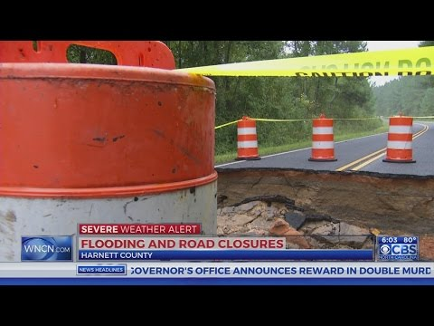 Roads still closed in Harnett County