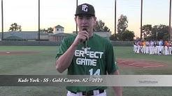 Kade York - SS - Gold Canyon, AZ - 2020