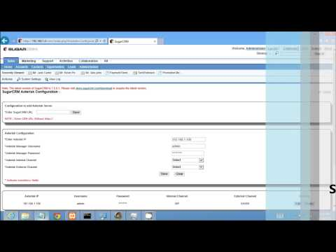 SUGARCRM ASTERISK CTI Integration Addon Server Configuration By TechExtension