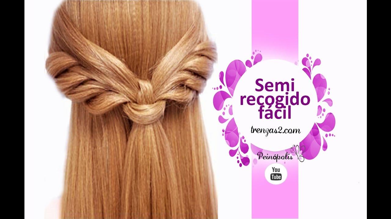 Peinados faciles y rapidos con semirecogidos con trenzas - Peinados de semirecogido ...